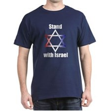 Stand with Israel Navy Blue T-Shirt