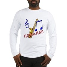 Saxaphone Long Sleeve T-Shirt