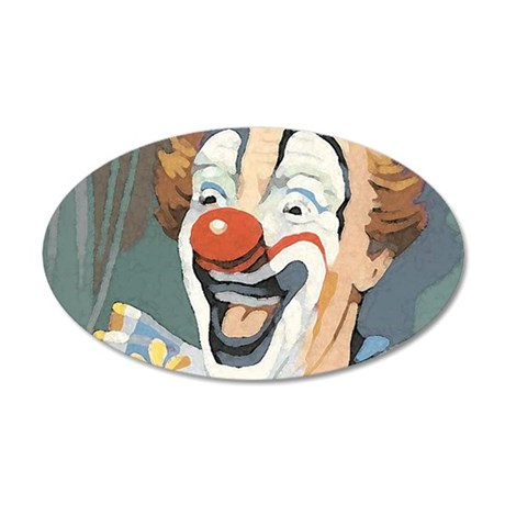 Painted Clown Wall Decal