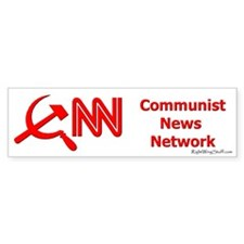CNN - Commie Bumper Car Sticker