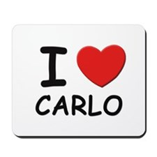 I love Carlo Mousepad