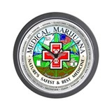 Medical Marijuana logo Wall Clock