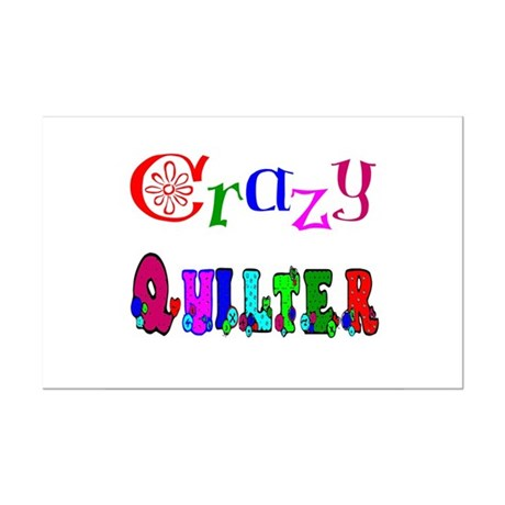 Crazy Quilter Mini Poster Print