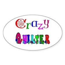 Crazy Quilter Oval Stickers