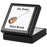 Jon Tester Toilet Brush Keepsake Box