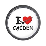 I love Caiden Wall Clock