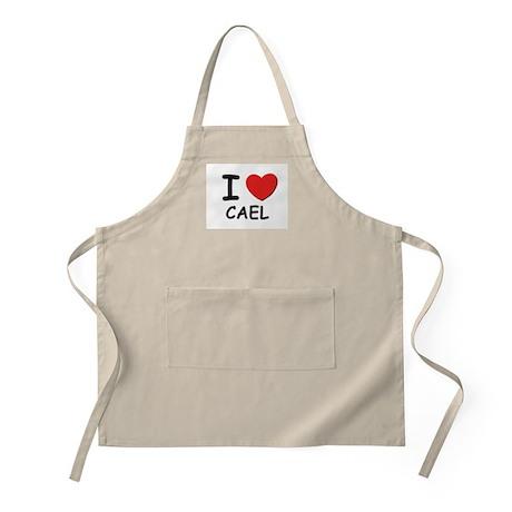 I love Cael BBQ Apron