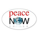Peace Now Oval Sticker