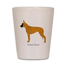 Brindle Great Dane Shot Glass