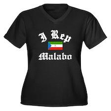 I rep Malabo Women's Plus Size V-Neck Dark T-Shirt