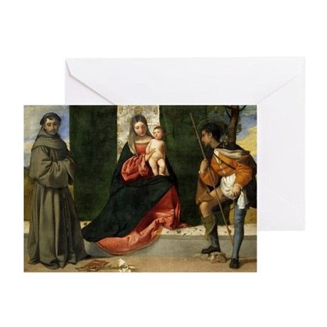Visiting Madonna and Child Greeting Cards (Pk of 1
