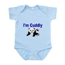 IM CUDDLY with panda bear Body Suit