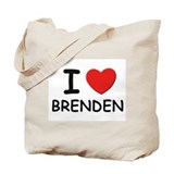 I love Brenden Tote Bag