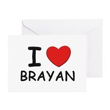 I love Brayan Greeting Cards (Pk of 10)