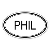 Phil Oval Design Oval Decal