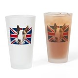 English bull terrier Pint Glasses