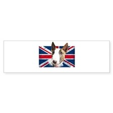 Bull Terrier UK grunge flag Bumper Bumper Sticker