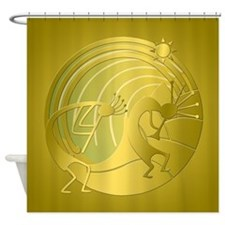 Golden Path Kokopelli Set Shower Curtain