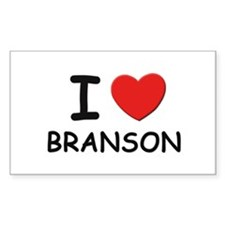 I love Branson Rectangle Decal