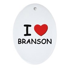 I love Branson Oval Ornament