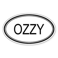Ozzy Oval Design Oval Decal