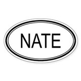 Nate Oval Design Oval Decal