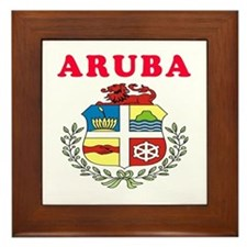 Aruba Coat Of Arms Designs Framed Tile