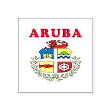 """Aruba Coat Of Arms Designs Square Sticker 3"""" x 3"""""""