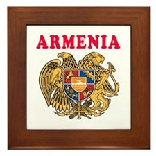 Armenia Coat Of Arms Designs Framed Tile