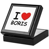 I love Boris Keepsake Box