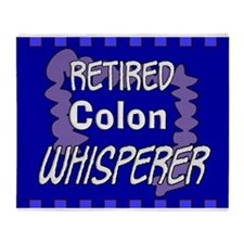 retired colon whisperer 2 Throw Blanket