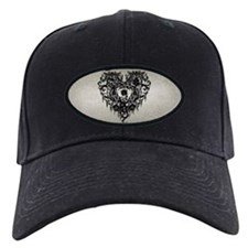 Ornate Gothic Heart Baseball Hat
