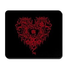 Ornate Red Gothic Heart Mousepad