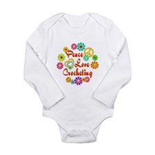 Peace Love Crocheting Long Sleeve Infant Bodysuit