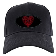 Ornate Red Gothic Heart Baseball Hat