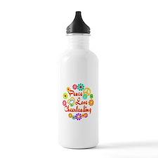 Peace Love Cheerleading Water Bottle