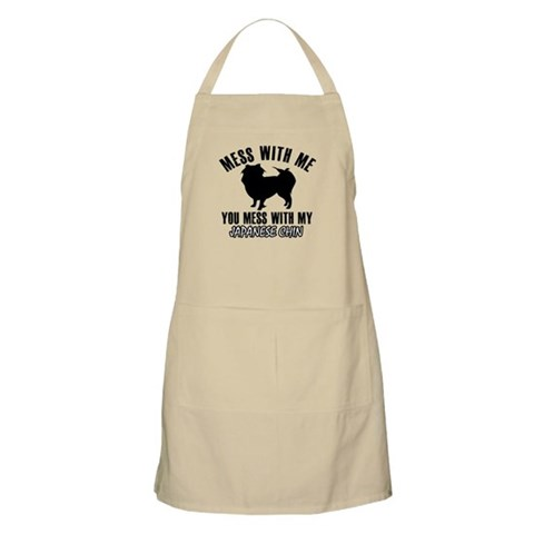 Japanese Chin owner designs Apron