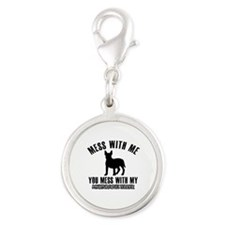 Miniature Bull Terrier owner designs Silver Round
