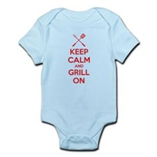 Keep calm and grill on Infant Bodysuit