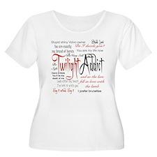 Twilight Addict Quotes Plus Size T-Shirt