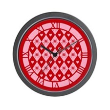 Spider Heart Diamond Pattern Wall Clock