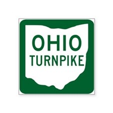 Ohio Turnpike Rectangle Sticker