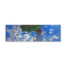 Monet - Woman with a Parasol Car Magnet 10 x 3