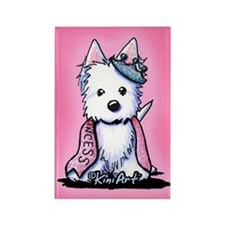 Westie Princess Sparkleheart Rectangle Magnet