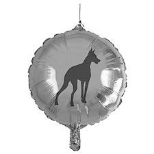 Doberman Silhouette Balloon