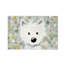 Westie Impressions Rectangle Magnet