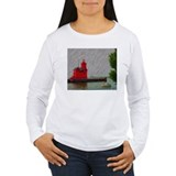 Big Red Lighthouse Michigan   T-Shirt