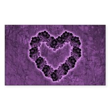 Gothic Purple Flower Heart Decal