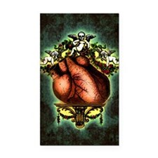 Baroque Human Heart Rectangle Car Magnet