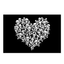 Skull Heart Postcards (Package of 8)